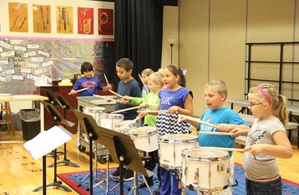 Cartmell drum line.