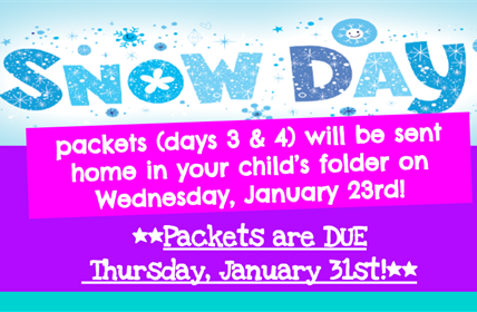 Snow day packets 3 & 4