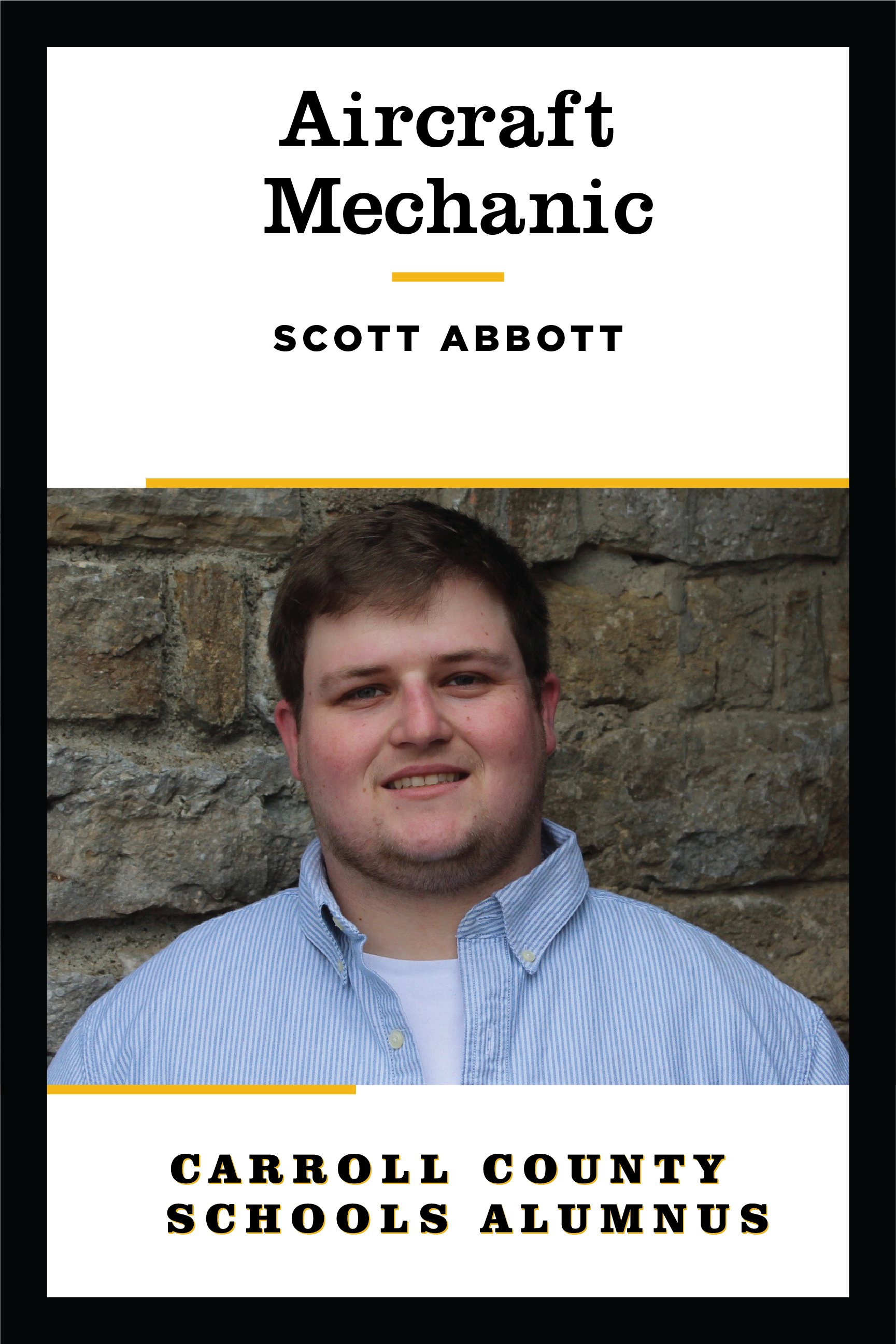 poster of CCSD alumnus Scott Abbott